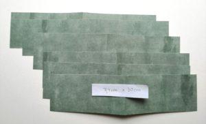 zugeschnittene Papiere für Innenseiten