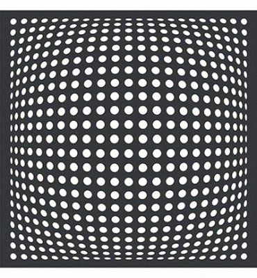 Square with Dots - Schablone