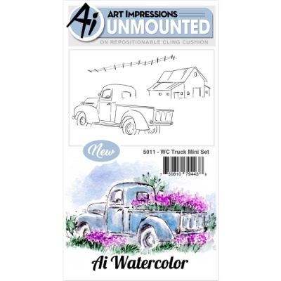 5011-art-impressions-watercolor-rubber-cling-stamp-mini-truck-set