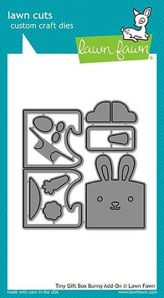 Tiny Gift Box Bunny Add-On - Lawn Cuts