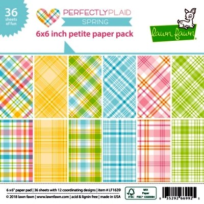 "Perfectly Plaid Spring - Petite Paper Pack - 6""x6"""