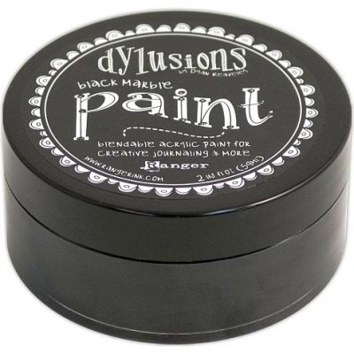 Dylusions Paint - Black Marble - Ranger