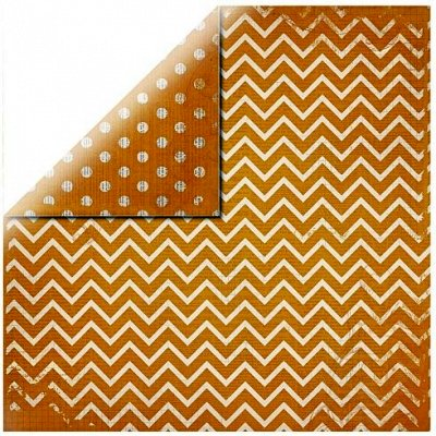 "Chevron Orange - 12""x12"""