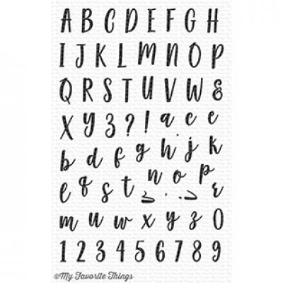 Mini Well-Connected Alphabet & Numbers - Stempel - MFT