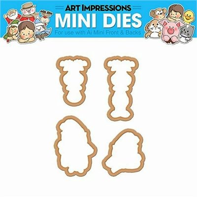 Elf & Reindeer  Mini Dies