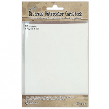 "Distress Watercolor Cardstock 4 1/4"" x 5 1/2"""