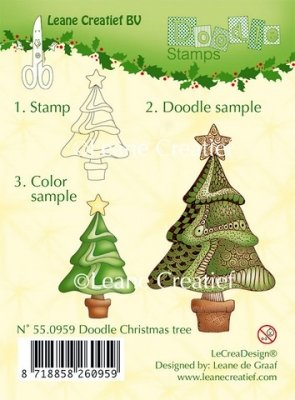 Doodle Christmas Tree - Clearstamps