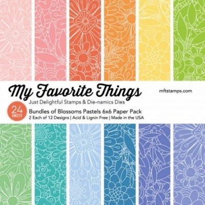 "My Favorite Things - Bundles of Blossoms Pastels - 6""x6"""