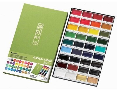 Kuretake - Gansai Tambi - Watercolor Set - 36 Colors