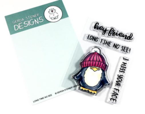 Long Time No See Penguin - Stempel