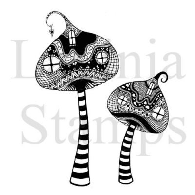 Zen Tall Mushrooms - Clear Stamps - Lavinia