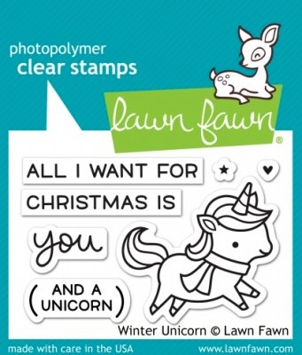 Winter Unicorn - Stempel