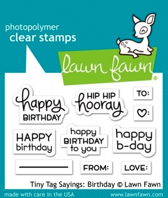 Tiny Tag Sayings: Birthday - Stempel