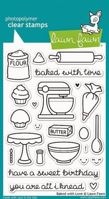 Baked with Love - Stempel