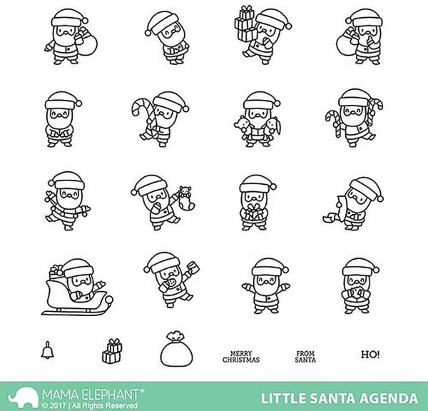 Little Santa Agenda - Clear Stamps - Mama Elephant