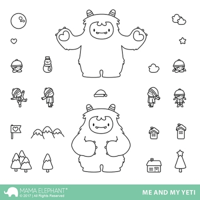 Me And My Yeti - Clear Stamps - Mama Elephant