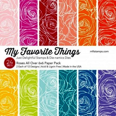 "My Favorite Things - Roses All Over - 6""x6"""