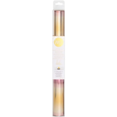 "Minc Reflective Foil - 12,25""X5' Roll - Pink Gold Ombre"