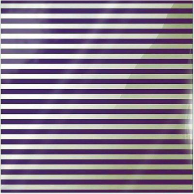"Neon Purple Stripe - Clearly Bold - 12""x12"""