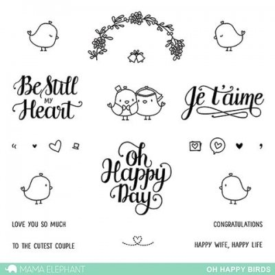 Oh Happy Birds - Clearstamps - Mama Elephant