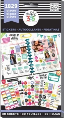 Create 365 - The Happy Planner - Value Pack Stickers - Planner Basics