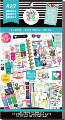 Create 365 - The Happy Planner - Value Pack Stickers - Quotes