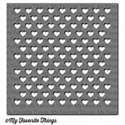 Staggered Hearts - MIX-ables - Schablone