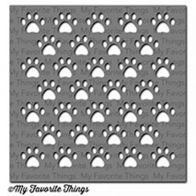 Staggered Paw Prints - MIX-ables - Schablone