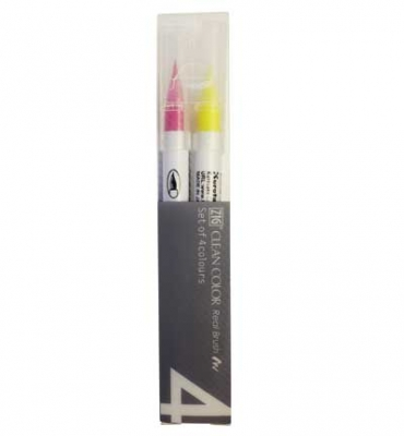 ZIG Clean Color Real Brush - 4er Set - Pop Colors