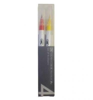 ZIG Clean Color Real Brush - 4er Set - Pure Colors