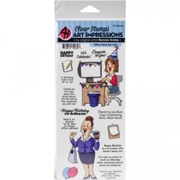 4998-art-impressions-clear-stamps-office-party-set