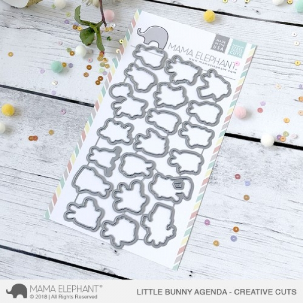 CC-187-LITTLE-BUNNY-AGENDA-Mama-Elephant-creative-cuts-dies