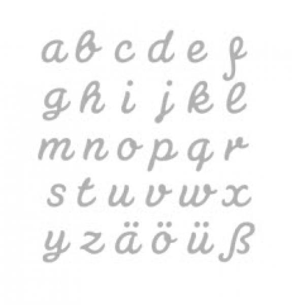connected alphabet - lower case - stanzschablone