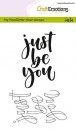Handletter - Just be you - Stempel