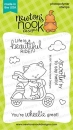 Newton Scoots By - Clear Stamps - Newton´s Nook Designs