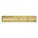 Washi Tape handmade with love - Gold