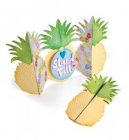 Card, Pineapple Fold-a-Long- Thinlits - Sizzix
