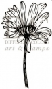 Flower Thinking of You - Holz-Stempel