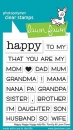 Happy Happy Happy Add-On - Family - Stempel