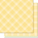 "Perfectly Plaid Spring - Daffodil - 12""x12"""