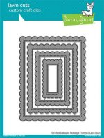 Stitched Scalloped Rectangle Frames - Lawn Cuts