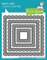 Stitched Scalloped Square Frames - Lawn Cuts