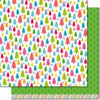 "Really Rainbow Christmas - Pine Tree Green - 12""x12"""