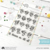 Little Elf Agenda - Clear Stamps - Mama Elephant