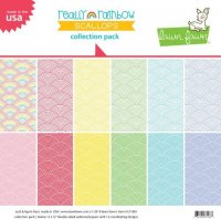 "Lawn Fawn - Really Rainbow Scallops - Petite Paper Pack - 6""x6"""