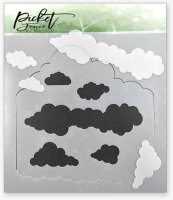 Layers of Clouds Stencil - Picket Fence Studios