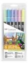 Tombow® ABT Dual Brush Pens - 6er Set - Pastel Colours