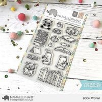 Book Worm - Clear Stamps - Mama Elephant