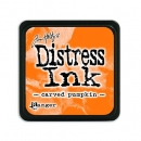 distress ink - carved pumpkin