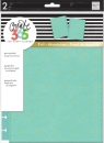 Create 365 - The Happy Planner - CLASSIC - Snap-In Cover - Turquoise/Gold Dots